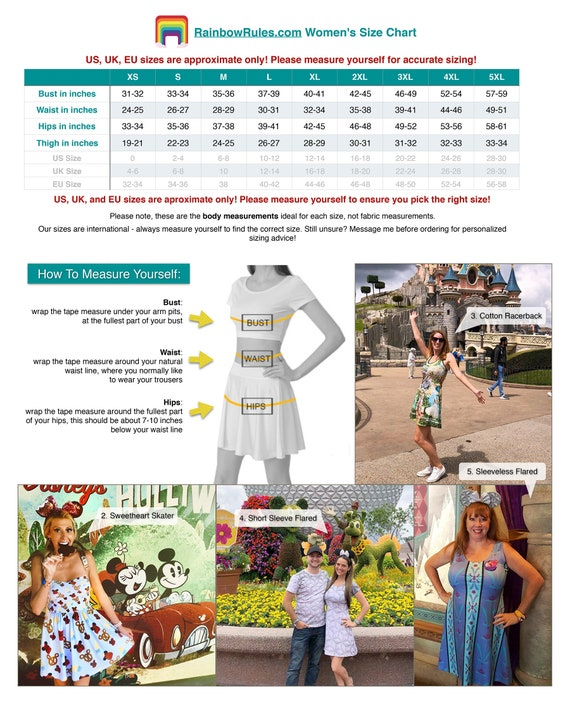 Epcot - Disney World Theme Park Map - Dress in XS - 5XL - Short / Summer  Styles