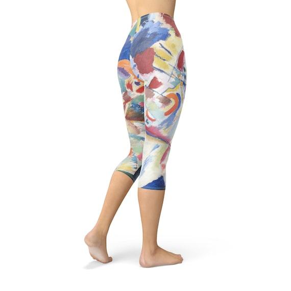 Kandinsky Abstract Art Painting Sport Leggings Full Length