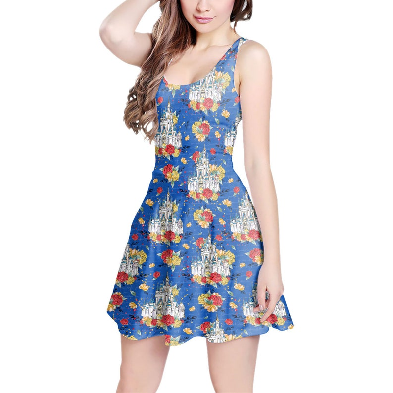 Dress in XS Short  Summer Styles 5XL Happiest Place On Earth Disney Parks Inspired Cinderella Castle