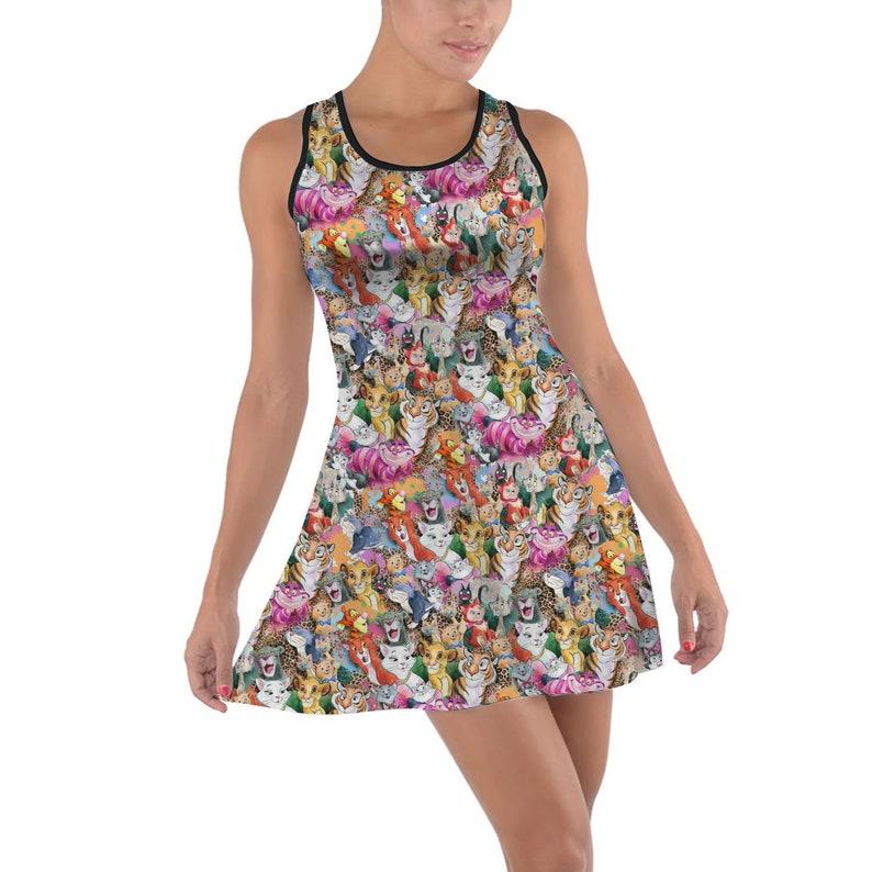 5XL Disney Animals Inspired Dress in XS Cats of Disney Short  Summer Styles