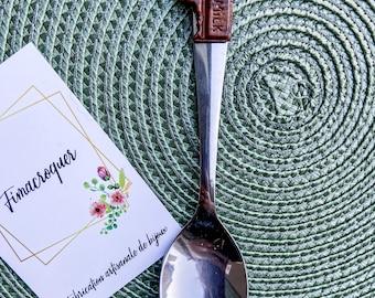 Spoon decorated chocolate Fimo, polymerclay handmade