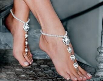 17636a54d9f0 Beach wedding barefoot sandals
