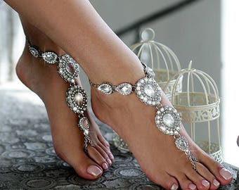 bf9e1e423d52 Beach wedding barefoot sandals