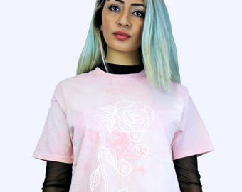 HEBA CLOTHING  'Loves me Not' Pink Tie Dye Tee