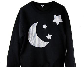 HEBA'S WORLD Holographic Moon Sweatshirt