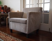 KNOLL Mies van der Rohe KREFELD CHAIR Lounge Arm Club Armchair, Gray Grey Greige Haze, Mid-Century Modern danish eames knoll era