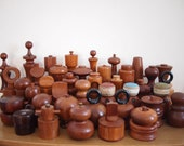 Lot Collection 40 Vintage DANISH Teak PEPPER MILL Dansk Jens Quistgaard Jhq Peugeot Grinder Peppermill Salt Shaker Nissen Mid-Century Modern