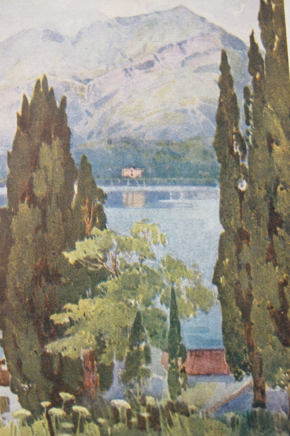 ITALY Lake Orta Oleanders Lago d/'Orta 1905 old antique print picture