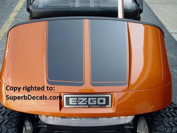 Golf Cart EZGO Club Car Yamaha 7 Hood Stripe Stripes | Etsy Club Car Golf Cart Basket Diions on