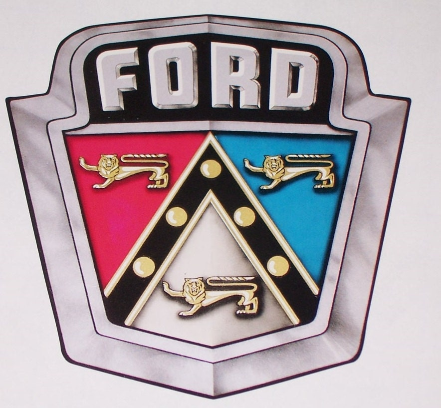 50s Ford Logo Window Wall Or Trailer Decal Sticker Decals Etsy