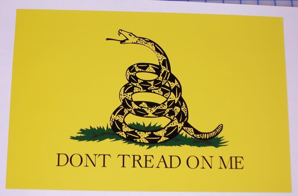 American dont Tread on me Army / Marine Snake Flag Window RV | Etsy