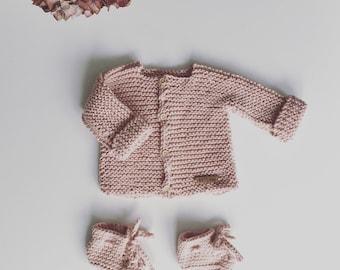Bella baby cardi 100 %cotton handknitted