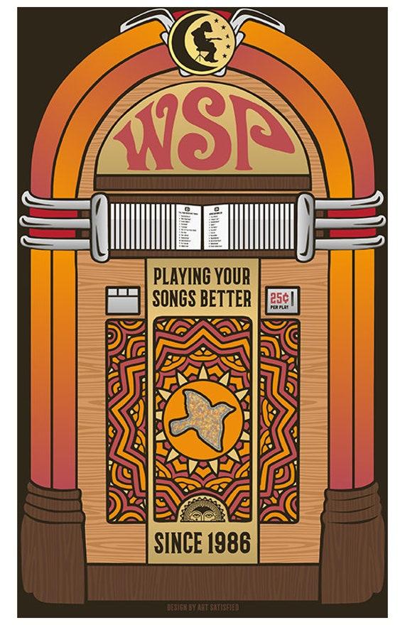 WSP Jukebox vinyl sticker