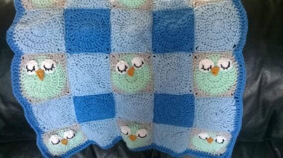 Häkeln Sie Schlafende Eule Babydecke Decke Baby Mädchen Etsy