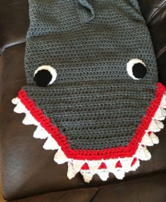 Crochet de cola de tiburón tiburón tiburón de ganchillo | Etsy