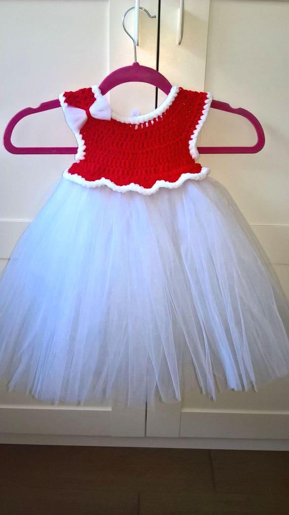 tutu robe crochet b b fille robe photo s ance cadeau no l. Black Bedroom Furniture Sets. Home Design Ideas