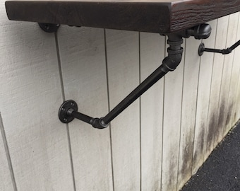 Industrial Iron Pipe Curtain Rods Drapes Valance Bronze