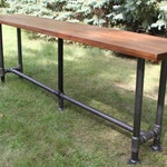The Foundry Table Reclaimed Bar Table Solid American Black Walnut Bar Table Pub Table Conference Table Walnut Table Walnut Desk Live Edge