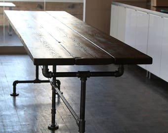 Bountiful Harvest Table Reclaimed Wood Dining Table Farmhouse Trestle Table  Industrial Table