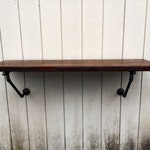 The Lodge Mantel Wall Mounted Bar Table Shelf Reclaimed Wood Bookshelf Floating Shelf Bar Pub Table