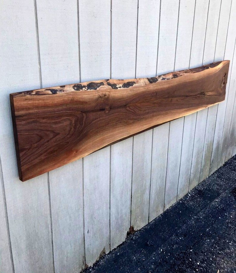 Live Edge Slab Headboard Reclaimed Wood Headboard Rustic image 0
