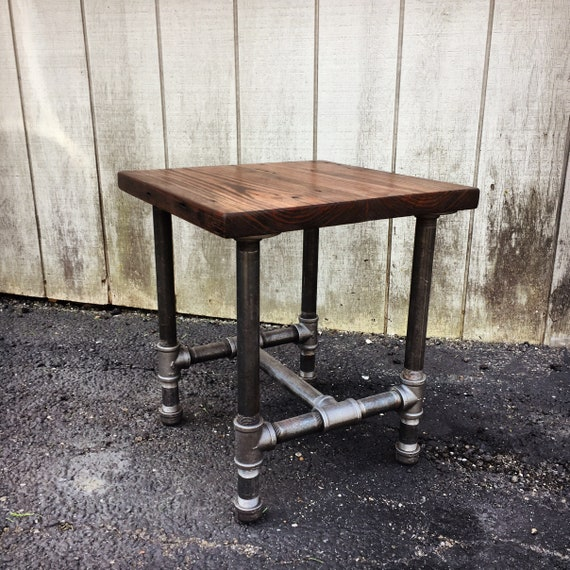 Excellent The Perfect Side Table Reclaimed Wood Side Table Rustic Black Pipe Steel Leg Side Sofa Bedside Table With Drawer Option Or Shelf Machost Co Dining Chair Design Ideas Machostcouk