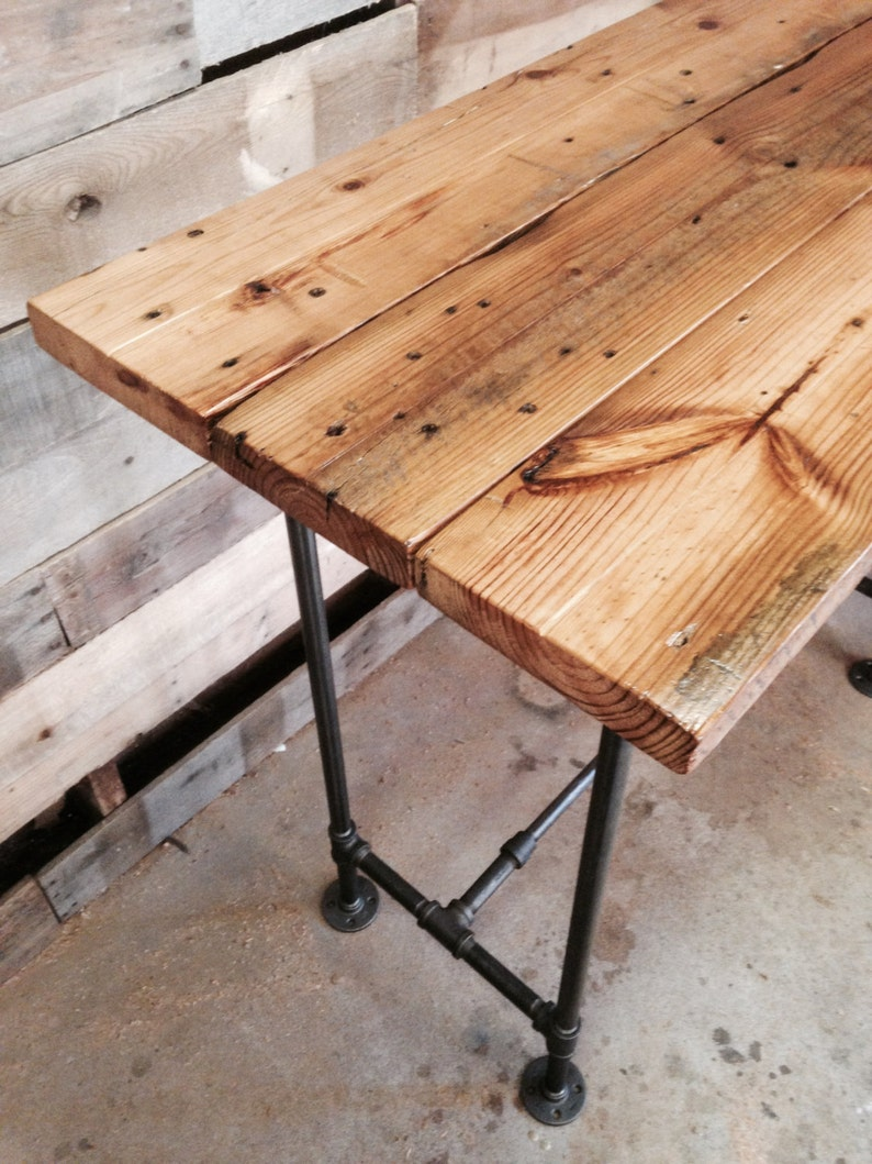 Reclaimed Wood Desk Rustic Office Desk The Quartermasteru0027s Desk Solid Wood  Standing Office Desk With Optional Keyboard Tray