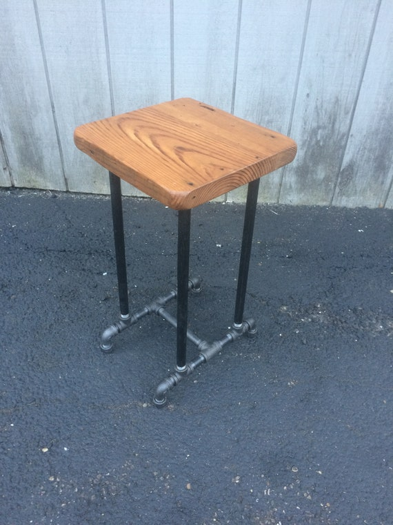 Awesome Reclaimed Wood Barstool Chair Drafting Stool Walnut Industrial Stool Chair Rustic Industrial Bar Seating Stool Mcm Rustic Black Iron Stool Alphanode Cool Chair Designs And Ideas Alphanodeonline