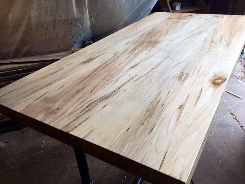 Charmant Reclaimed Maple Slab Countertop Tabletop Reclaimed Salvaged Ambrosia Maple  TableDesk Hairpin Leg DIY Butcher Block Island Walnut Oak Table