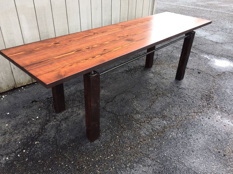 The Fieldstone Pub Table Reclaimed Wood Farmhouse Dining Table Patio Bar  Table Outdoor Table Rustic Modern Parsons Table