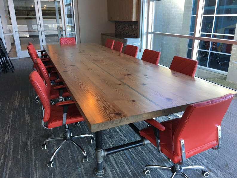 The Capitol Conference Table Reclaimed Wood Industrial Office image 0
