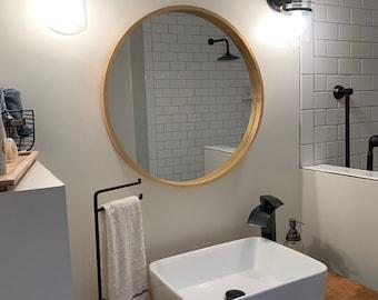 Live Edge Vanity for Basin Sink or Wall Mounted Floating Vessel Sink, Walnut Floating Shelf,  Basin Sink Vanity