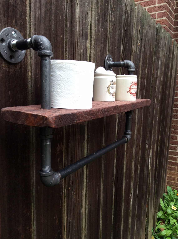 Pipe Towel Bar Bathroom Vanity Shelf Towel Shelf Towel Hook Towel Hanger Bathroom Shelf