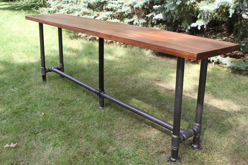 The Foundry Table Reclaimed Bar Table Solid American Black image 0