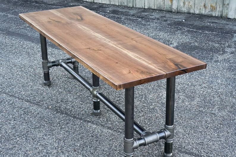 Reclaimed Wood Walnut Dining Table Urban Wood Bar Table Solid image 0