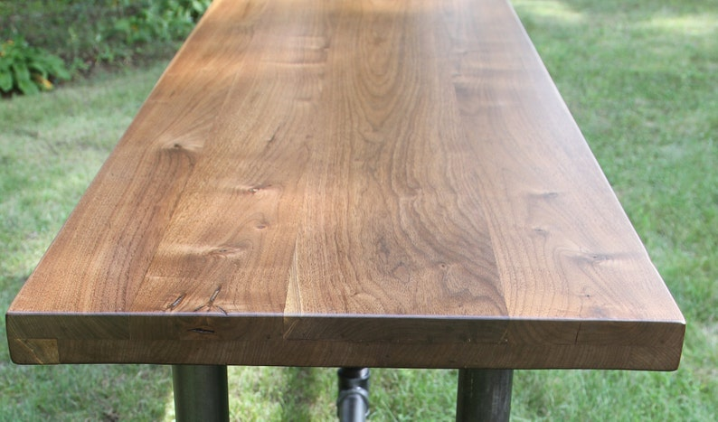 Superieur Black Walnut Slab Countertop Butcher Block Tabletop Reclaimed Salvaged Live  Edge Walnut Table Bar Hairpin Leg Counter Island Walnut Table