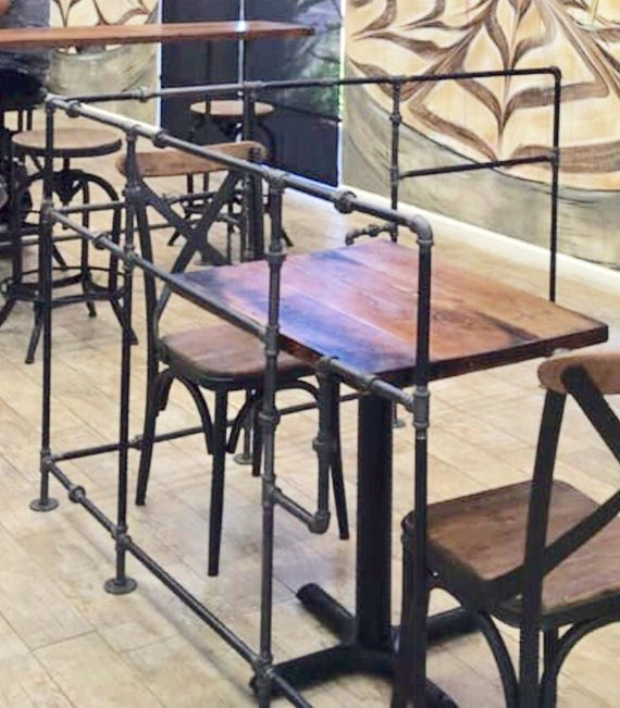 Industrial Pipe Partitions Room Dividers Cafe Seating