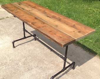 Orchard Farmhouse Table Reclaimed Wood Dining Table Industrial Dining Table  Wood Harvest Table Rustic Steampunk Reclaimed