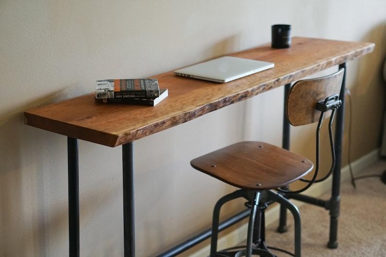Live Edge Foundry Desk Living Edge Reclaimed Bar Table Living image 0