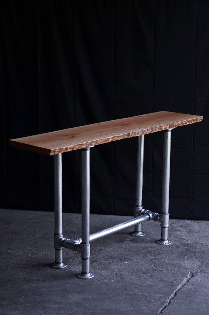 Reclaimed Cherry Foundry Table Reclaimed Bar Table Cherry Pub image 0