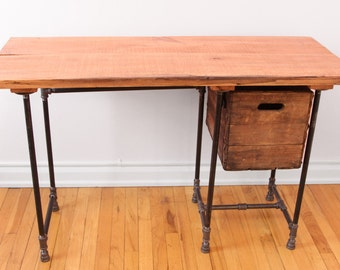 Sturdy Sentiments Desk Reclaimed Wood Desk with (optional) Drawer Reclaimed Wood Office Desk