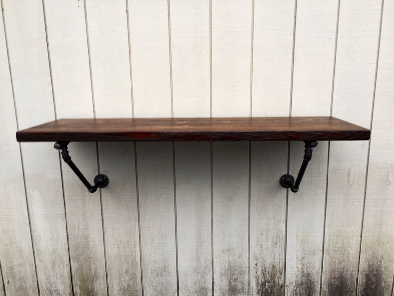 The Lodge Mantel Wall Mounted Bar Table Shelf Reclaimed Wood image 0