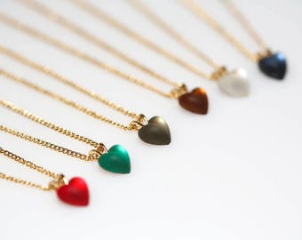 Moonglow Heart Necklaces