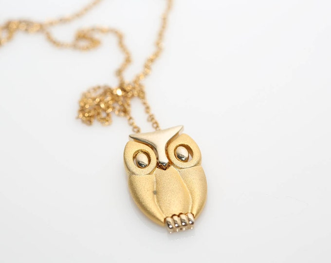 Featured listing image: Golden Owl Necklace