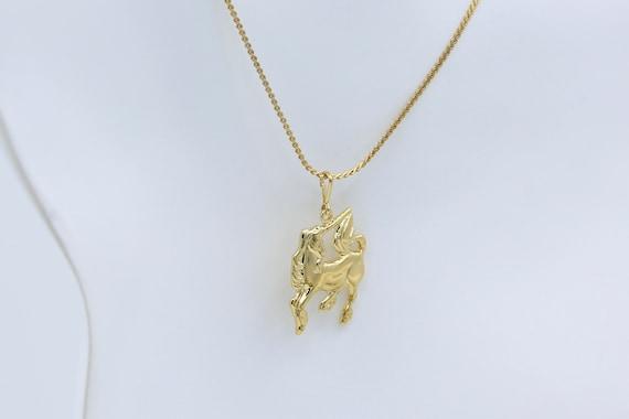 Gold Unicorn Necklace – Vintage NOS - image 2
