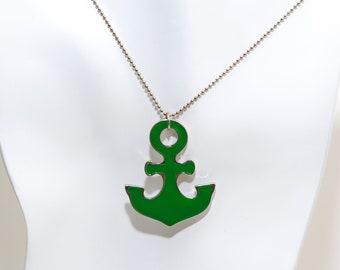 Green Anchor Necklace
