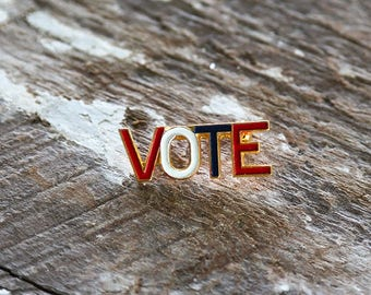 "Political ""VOTE"" Pin"