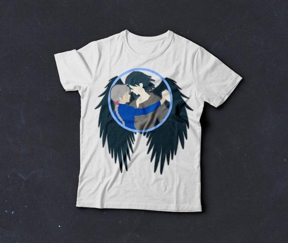 f991186dcb43f Howl and Sophie Unisex T Tee Shirt Anime Studio Ghibli
