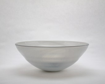 Grey hand blown glass Bowl