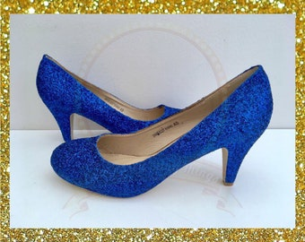 Royal blue glitter heels 044c5cebe6e